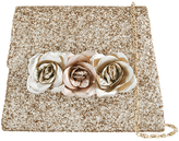 Monsoon Metallic Rose Glitter Saddle Bag