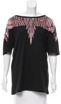 Marcelo Burlon County of Milan Embellished Oversize Top w/ Tags
