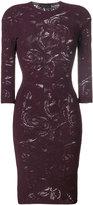 Versace crewneck slim-fit dress