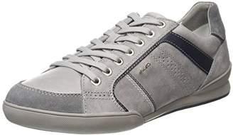 Geox Men's Kristof A Low-Top Sneakers, (Stone/Dk Grey)