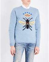 Gucci Bee And Crown Wool Jumper
