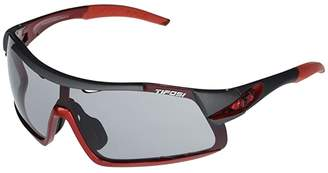 Tifosi Optics Davos (Race Red Frame Smoke Fototec Lens) Athletic Performance Sport Sunglasses
