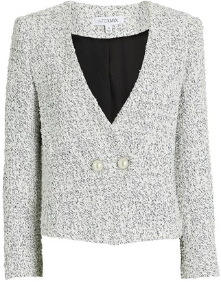Intermix Carrie Double-Breasted Tweed Blazer