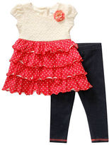 Sweet Heart Rose Sweetheart Rose Baby Girls 2-Piece Knit To Woven Legging Set