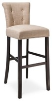 """Office Star Scrollback with Nailhead 30"""" Barstool Wood Composite - Threshold"""