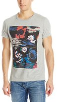 French Connection Men's Flower Glitch Short Sleeve T-Shirt
