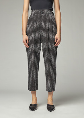 Issey Miyake Women's Crossword Stitch Pant in Black Size 1
