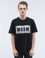 MSGM Box Logo S/S T-Shirt