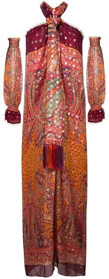 Etro fringed halterneck dress