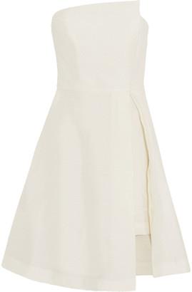 Halston Strapless Jacquard Mini Dress