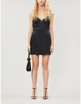 KENDALL + KYLIE Pacsun PacSun x Kendall & Kylie V-neck satin-crepe mini dress