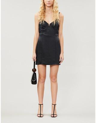 KENDALL + KYLIE Pacsun PacSun x Kendall & Kylie V-neck satin-crepe mini dress