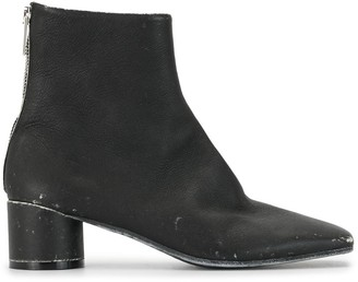 MM6 MAISON MARGIELA Distressed Finish Ankle Boots
