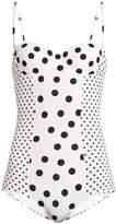 Dolce & Gabbana Polka-dot print balconette swimsuit