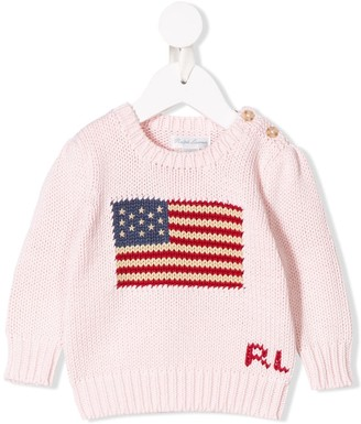 Ralph Lauren Kids Flag Knitted Sweater