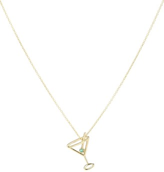ALIITA Martini 9kt gold and emerald necklace