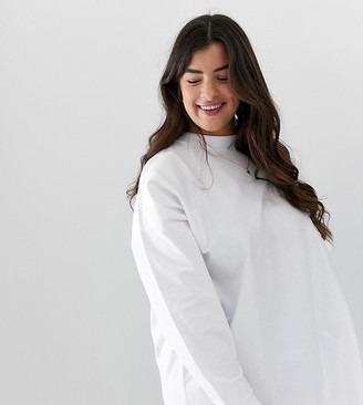 Asos DESIGN Curve super oversized lightweight sweatshirt in white
