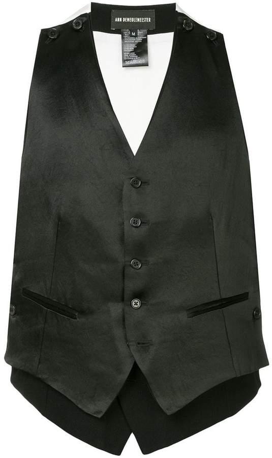 Ann Demeulemeester Rosetti double-layer waistcoat