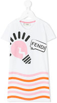 Fendi light bulb T-shirt - kids - Spandex/Elastane/Cotton - 4 yrs