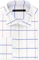 Sean John Men's Classic/Regular Big and Tall Fit White Print French Cuff Dress Shirt