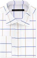 Sean John Men's Classic/Regular Fit White Print French Cuff Dress Shirt
