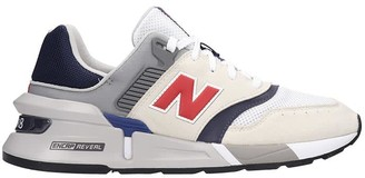 New Balance 997 Sneakers In White Suede And Fabric