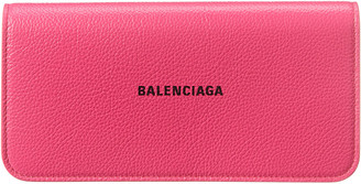 Balenciaga Logo Leather Continental Wallet