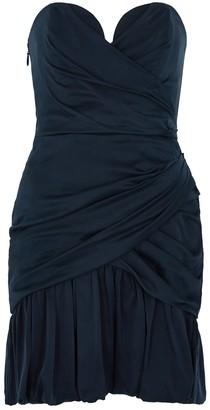 Zimmermann Navy bandeau stretch-silk mini dress