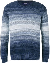 Woolrich striped knitted sweater - men - Cotton - M