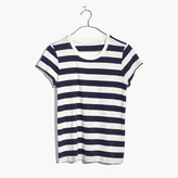 Madewell Rivet & Thread Vintage Shrunken Tee in Corey Stripe