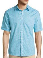 Claiborne Short-Sleeve Stretch Woven Shirt