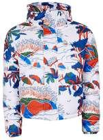 Topman DESIGN Isle of Wight Print Puffer Jacket