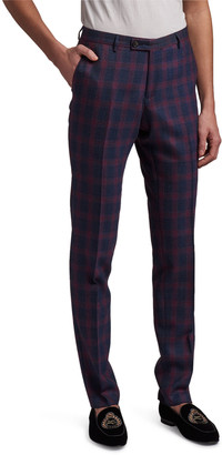 Etro Men's Blurred Plaid Suit Pants