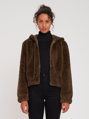 Cupcakes And Cashmere Breda Faux Fur Hooded Jacket