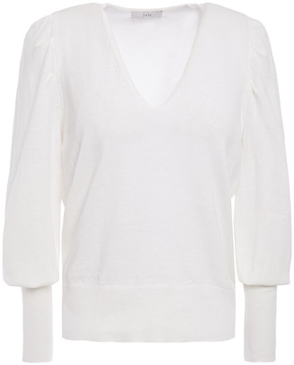 Joie Ula Gathered Cotton And Linen-blend Sweater