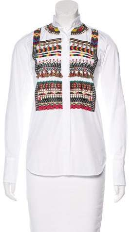 Valentino Embellished Long Sleeve Top w/ Tags