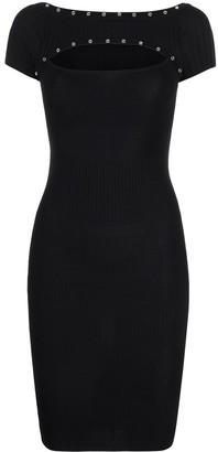 Patrizia Pepe Cut-Out Press Stud Detail Dress