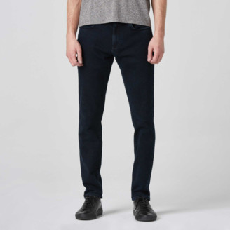 DSTLD Mens Skinny Slim Jeans in Midnight Blue Overdye