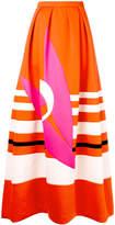 DELPOZO striped maxi skirt