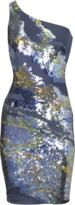 Wetlook sequins dress