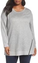 Sejour Plus Size Women's Zip Hem Sweatshirt
