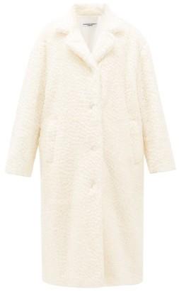 Katharine Hamnett Velma Oversized Shearling-effect Mohair Coat - Womens - Ivory
