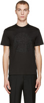 Versace Black Embroidered Medusa T-shirt