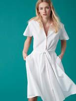 Diane von Furstenberg Short Sleeve Collared Shirt Dress