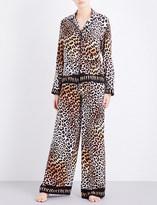 Rockins Leopard-print silk pyjama set