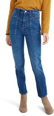 Madewell Seamed Classic Straight Jeans