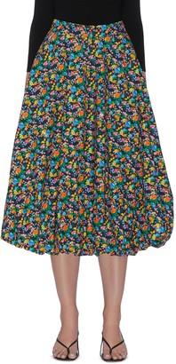 Tibi 'Sabine' All-over Floral Print Balloon Hem Skirt