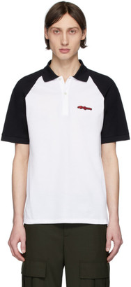 Alexander McQueen White and Black Logo Polo