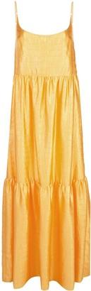 Sies Marjan Brianna crocodile-embossed satin maxi dress