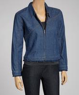 Le Mieux Blue Denim Zip-Up Jacket